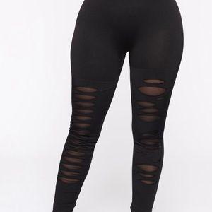 FashionNova Women's Black High Waisted Legging S/M